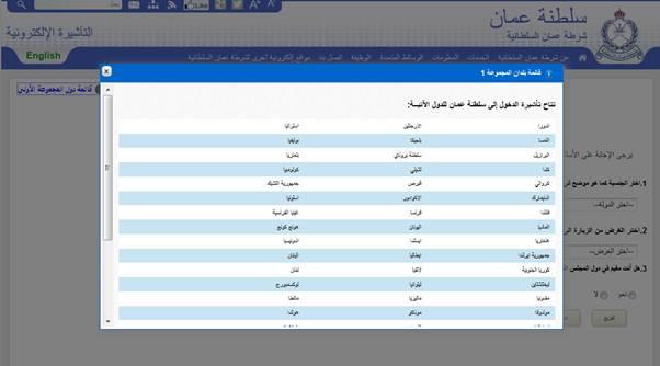 التاشيرات الالكترونية عمان لم يسبق له مثيل الصور + E-FRONTA.INFO